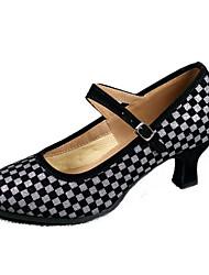 "Women's Modern Customized Materials Heels Indoor Splicing Customized Heel Black/Silver Black/Gold 2"" - 2 3/4"" Customizable"