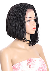 14inch Box Braid Hair for Black Women Synthetic Lace Front Wig Braid Bob Wig