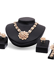 cheap -Women's Jewelry Set - Rhinestone, Gold Plated Flower Statement, Personalized, Luxury Include Gold For Party Special Occasion Housewarming