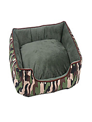 cheap -Dog Bed Pet Baskets Stripe Warm Soft Washable Camouflage For Pets
