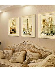 levne -Set v rámu Krajina Olejomalba Wall Art, PVC Materiál s rámem Home dekorace rám Art Ložnice