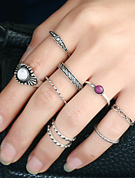 Women's Band Rings Ring Cuff Ring Circular Circle Fashion Rock Euramerican Gothic Africa Gold Metal Alloy Resin Alloy Circle Jewelry For