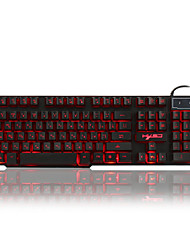 Russisch / Engels 3 kleuren backlight gaming keyboard teclado gamer drijvende LED backlit usb met een vergelijkbaar mechanisch gevoel