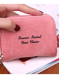 Women Coin Purse PU Polyester All Seasons Square Zipper Blue Black Fuchsia
