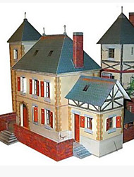 cheap -3D Puzzles Paper Craft Square House 3D Simulation DIY Hard Card Paper Unisex Gift