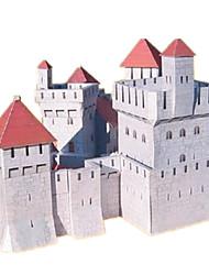 cheap -3D Puzzle Paper Model Paper Craft Model Building Kit Castle Famous buildings House DIY Classic Kid's Unisex Gift
