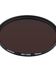 Andoer 72mm nd1000 10 stop fader neutralt densitetsfilter til Nikon Canon DSLR kamera