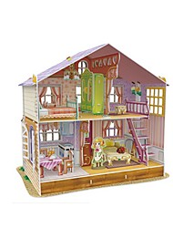 Bonecas Quebra-Cabeças 3D Quebra-Cabeça Casa de Boneca Maquetes de Papel Brinquedos Quadrada Construções Famosas Arquitetura 3D Para
