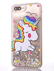 For iPhone 8 iPhone 8 Plus Case Cover Flowing Liquid Pattern Back Cover Case Unicorn Glitter Shine Hard PC for Apple iPhone 8 Plus iPhone
