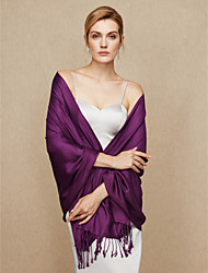 cheap -Cotton Wedding Party / Evening Women's Wrap With Tassel Shawls