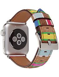 economico -Fascia da orologio per la serie di orologi da mela serie 1 2 38mm 42mm classica fascia di sostituzione del cuoio dell'inarcamento dell'inarcamento