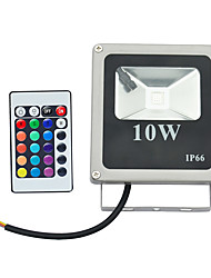 LED Floodlight 1 High Power LED 800 lm RGB K Remote-Controlled AC 85-265 V