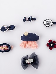 7PK New Dog Hair Bows Topknot Solid Small Bowknot with Clip Top Quality Pet Grooming Products Mix Designs Pet Hair Bows Dog Hair Accessories-Dark Blue