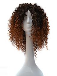 cheap -African Black Wig Head Hood Black Gradient Light Brown Small Wigs Wigs 18inch