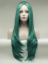 Green cosplay wigs for women drag queen cosplayer Imstyle Wavy16- 26 inches Synthetic lace front wig