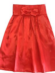 billige -Dame Bomuld A-linje Nederdele Ensfarvet