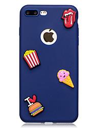 Недорогие -Назначение iPhone X iPhone 8 Чехлы панели С узором Своими руками Задняя крышка Кейс для Продукты питания Мягкий Термопластик для Apple