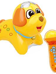 Недорогие -Обучающая игрушка Аксессуары для кукольного домика Игрушки Собаки Барабанная установка Пластик Куски Для детей Подарок