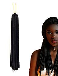 economico -dreadlocks Trecce di capelli Riccio Treccine a boccoli 35cm 45cm Dread piccoli finti Estensioni di Dreadlock Dread finti Capelli 100%