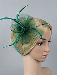 Women's Net / Plastic Headpiece-Wedding / Special Occasion / Party Fascinators Flowers 1 Piece Bride Hair Accessories