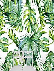 Botanical Art Deco 3D Wallpaper For Home Novelty Wall Covering , Canvas Material Adhesive required Mural , Room Wallcovering