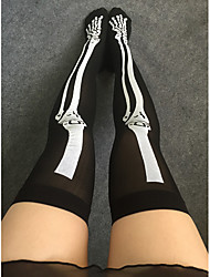 Women's Thin Stockings Skull Print Stocking