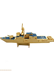 cheap -3D Puzzles Jigsaw Puzzle Wood Model Aircraft Carrier Toys Warship Aircraft Carrier 3D Wooden Wood Not Specified Pieces