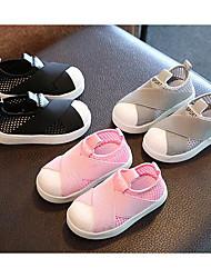 Pige Sneakers Komfort Ruskind Forår Efterår Afslappet Komfort Snøring Platå Fersken Rød Grøn Flad