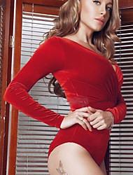 billige -Dame Ferie / I-byen-tøj Bodysuit - Ensfarvet Harem V-hals / Forår