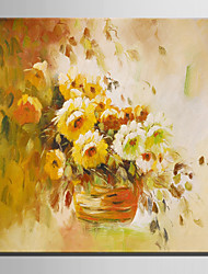Mini Size E-HOME Oil painting Modern Chrysanthemum In A Basket Of Flowers Pure Hand Draw Frameless Decorative Painting