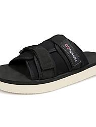 preiswerte -Herrn Schuhe PU Frühling Sommer Komfort Sandalen für Normal Schwarz Gelb Blau Khaki