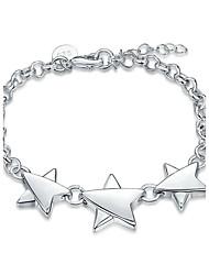 cheap -Women's Girls' Crystal Silver Plated Star Chain Bracelet - Friendship Fashion Rock Punk Star Silver Bracelet For Christmas Gifts Wedding