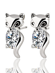 cheap -Women's Crystal / Cubic Zirconia Stud Earrings - Zircon, Silver Plated, Gold Plated Animal Personalized, Classic, Bohemian Gold / Silver For Christmas / Christmas Gifts / Wedding