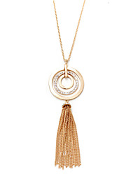 Women's Pendant Necklaces Jewelry Geometric Alloy Natural Tassels Euramerican Vintage Personalized Luxury Africa Jewelry ForBirthday