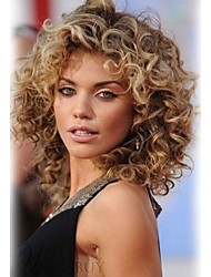 cheap -Women's Human Hair Capless Wigs Wavy Layered Haircut Short Chestnut Brown/Bleach Blonde