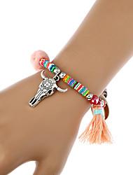 Femme Chaînes & Bracelets Charmes pour Bracelets Bracelets de rive Bohême Fait à la main Turc Fibre de bambou Acrylique AlliageForme