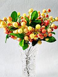 10 Ramo Polistirolo Tocco reale Piante Frutta Fiori da tavolo Fiori Artificiali