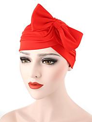 Femme Chapeau Fleur Coton Capeline,Solide Printemps/Automne Eté Noeud Rouge Rose Claire Gris Foncé Marine Bleu royal