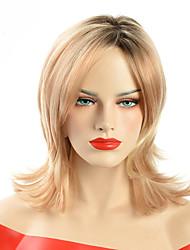 Donna Parrucche sintetiche Senza tappo Medio Ondulati Biondo Capelli schiariti Parrucca riccia stile afro Per donne di colore Parrucca