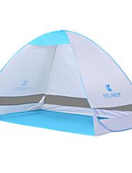 Недорогие -KEUMER 2 человека Тент для пляжа Световой тент Один экземляр Палатка Однокомнатная Дожденепроницаемый Защита от пыли для Отдых и Туризм