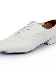 """economico -Da uomo Balli latino-americani Di pelle Sneaker Professionale Basso Bianco Nero 2 """"- 2 3/4"""""""