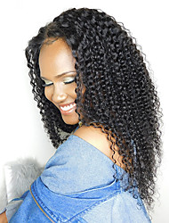 cheap -Indian Hair Kinky Curly / Curly Weave Natural Color Hair Weaves Human Hair Weaves Natural Black Human Hair Extensions