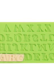 Capital Letter Silicone Fondant Cake Decoration for Chocolate Fimo Clay Mold Color Random