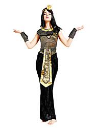Недорогие -Королева Египетские костюмы Косплей Клеопатра Косплэй Kостюмы Костюм для вечеринки Маскарад Жен. Хэллоуин Карнавал Фестиваль / праздник