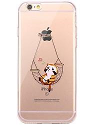 economico -Per iPhone X iPhone 8 Custodie cover Transparente Fantasia/disegno Custodia posteriore Custodia Gatto Morbido TPU per Apple iPhone X