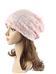 cheap -Women's Cotton Beanie Floppy Hat Headwear Cute Casual Modern Daily Knitwear Jacquard Spring/Fall Lace Cap Red/Purple/Black/Pink/Green