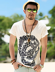 billige -Herre Bomuld, Trykt mønster Aktiv T-shirt / Kortærmet