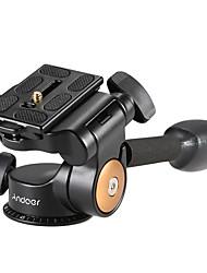 cheap -Andoer® Q08 Video Tripod Ball Head 3-way Fluid Head Rocker Arm with Quick Release Plate for DSLR Camera Tripod Monopod