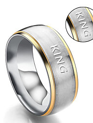cheap -European and American fashion lovers ring new titanium single drill simple couple ring wholesale wholesale custom lettering