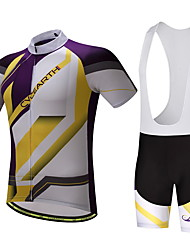 Cycling Jersey with Bib Shorts Men's Bike Clothing Suits Quik Dry Anti-slip Strap Well-ventilated Spring/Fall Summer Cycling/Bike